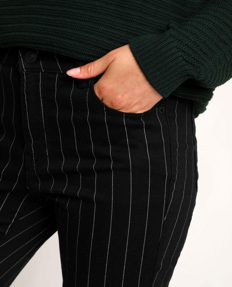 Pantalon skinny imprimé noir