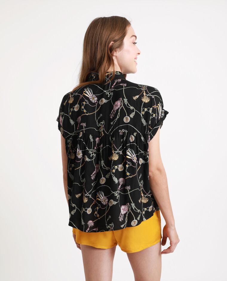 Chemise à imprimé noir