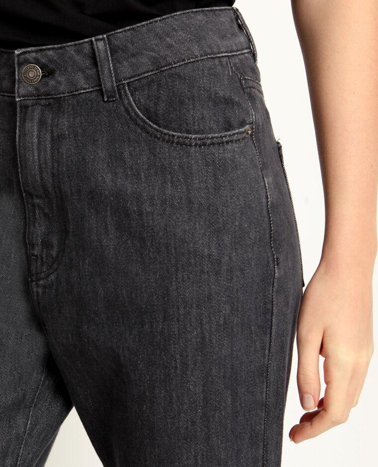 Jeans met hoge taille antracietgrijs