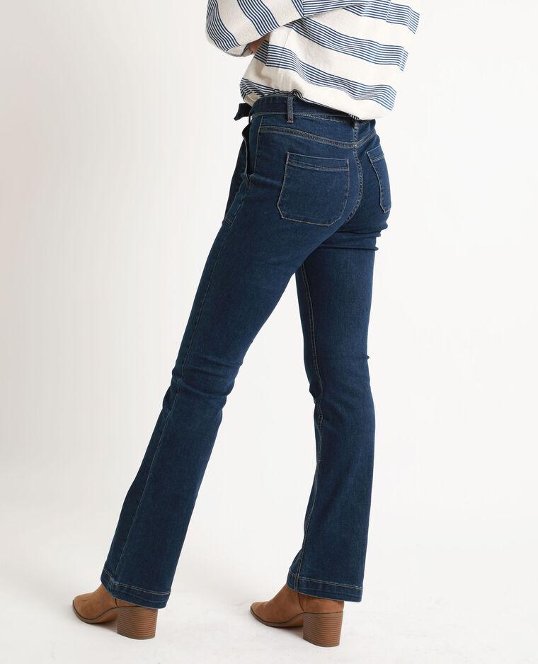 Jean bootcut bleu denim