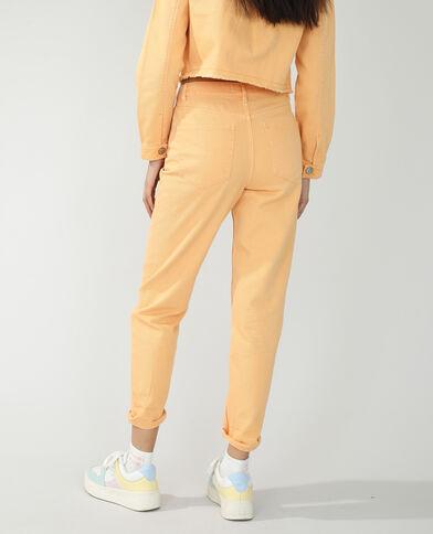 Jean mom high waist orange - Pimkie