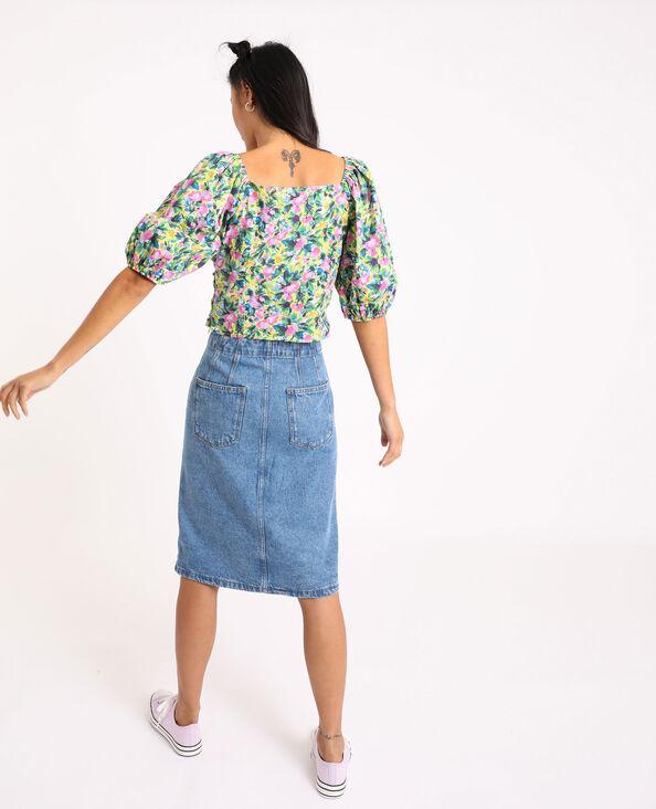 Halflange jeansrok blauw