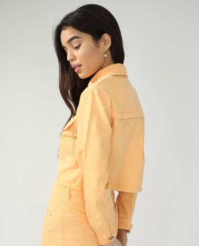 Jeansvestje oranje - Pimkie