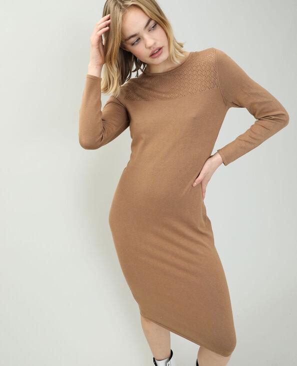 Trui-jurk kastanjebruin - Pimkie