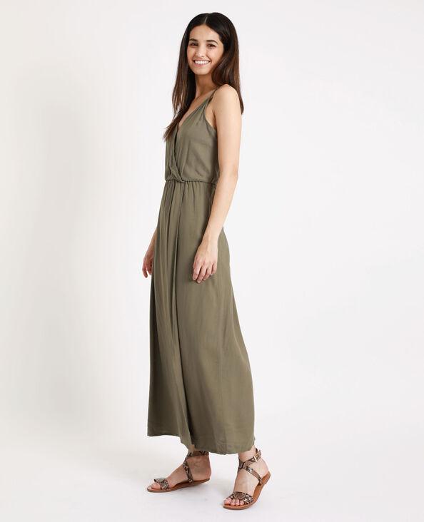 Lange jurk met decolleté groen