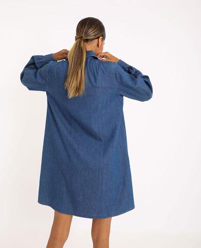 Robe chemise en jean bleu denim