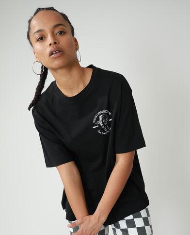 Oversized T-shirt met tekst zwart - Pimkie