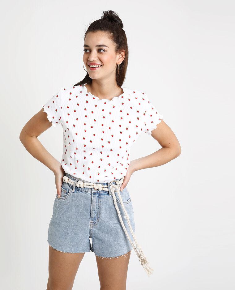 T-shirt à fraises blanc