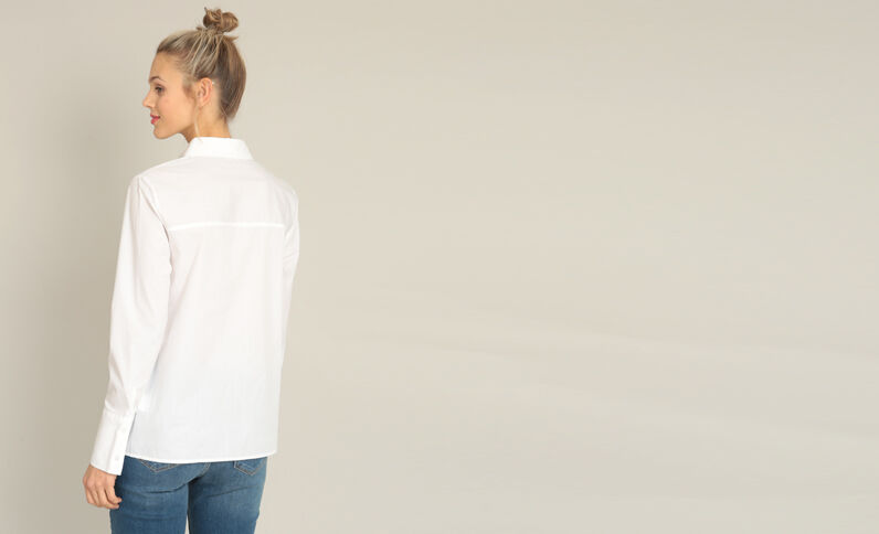 Hemd met strik wit