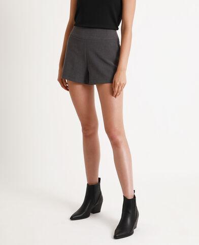 Short met hoge taille gemêleerd grijs