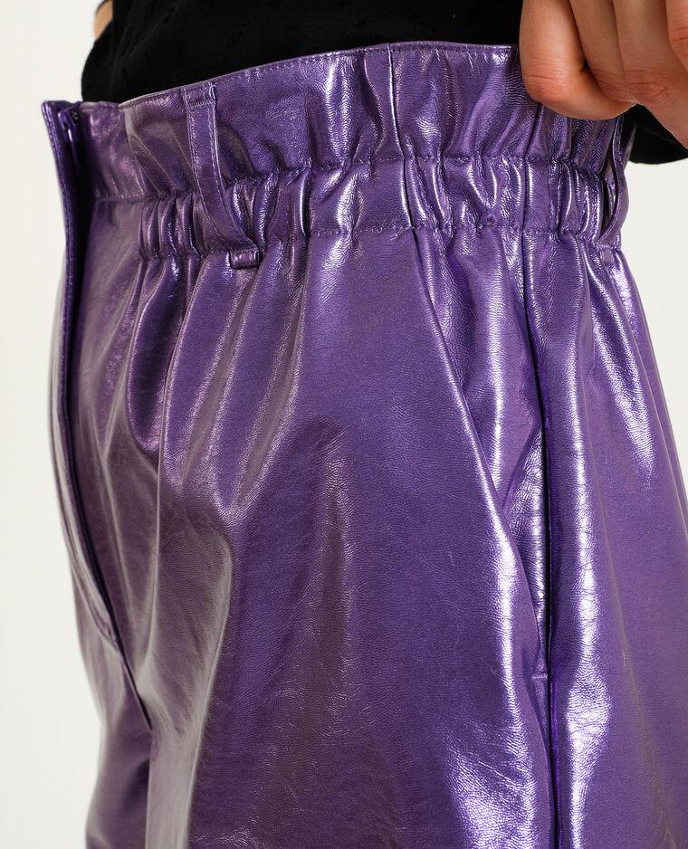 Short simili cuir violet