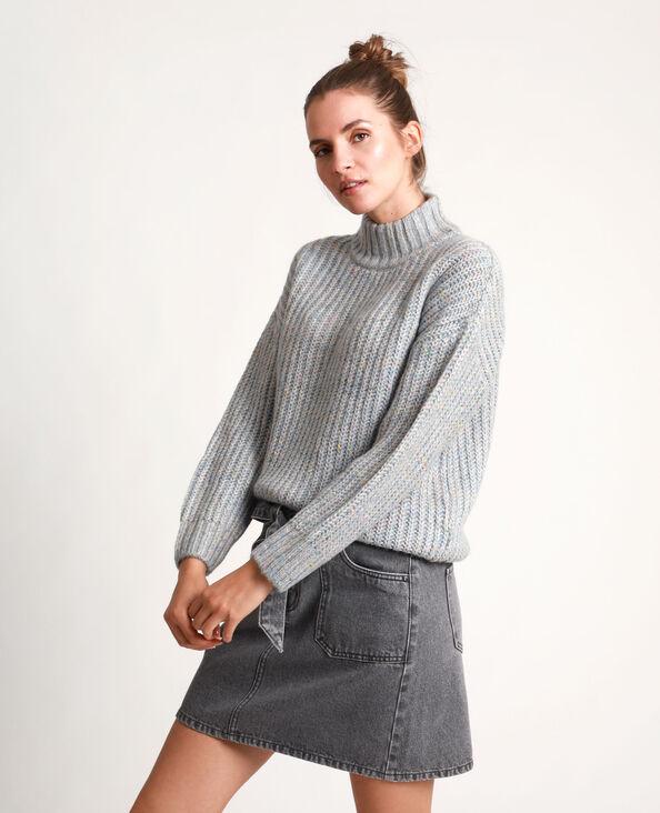 Gemengde trui gemêleerd grijs