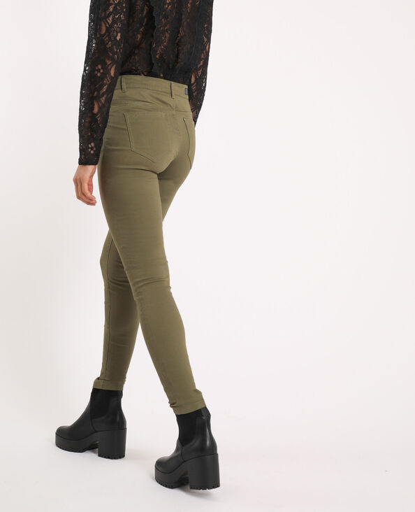 Push-up skinny mid waist kaki