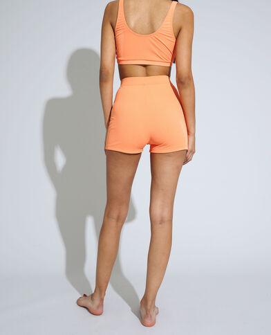 Bas de maillot shorty côtelé orange - Pimkie