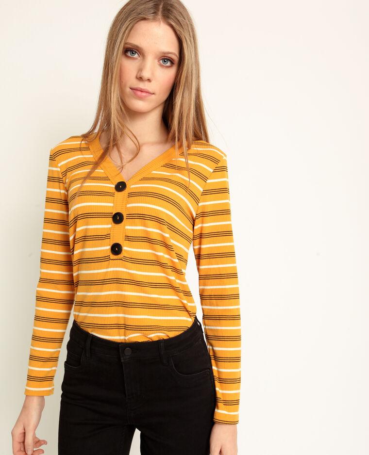T-shirt rayé jaune