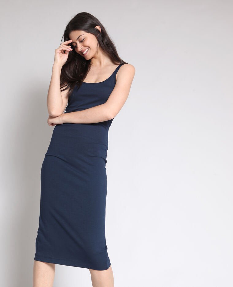Robe moulante bleu marine -25% - 780881651A06   Pimkie 2ecb01056d6f