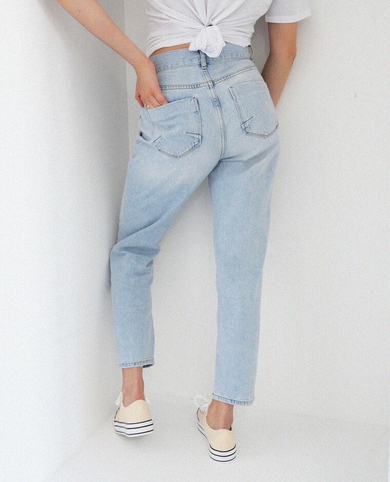 Jean straight high waist bleu clair