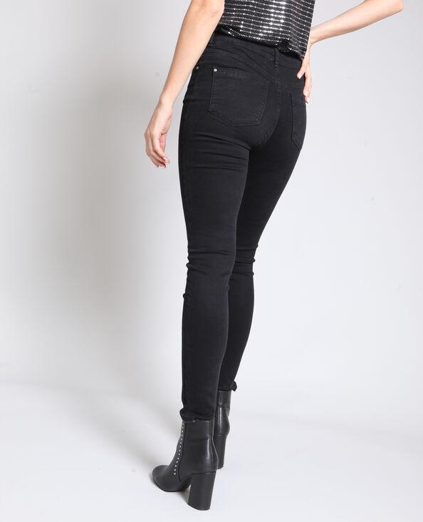 - Skinny jeans met middelhoge taille zwart