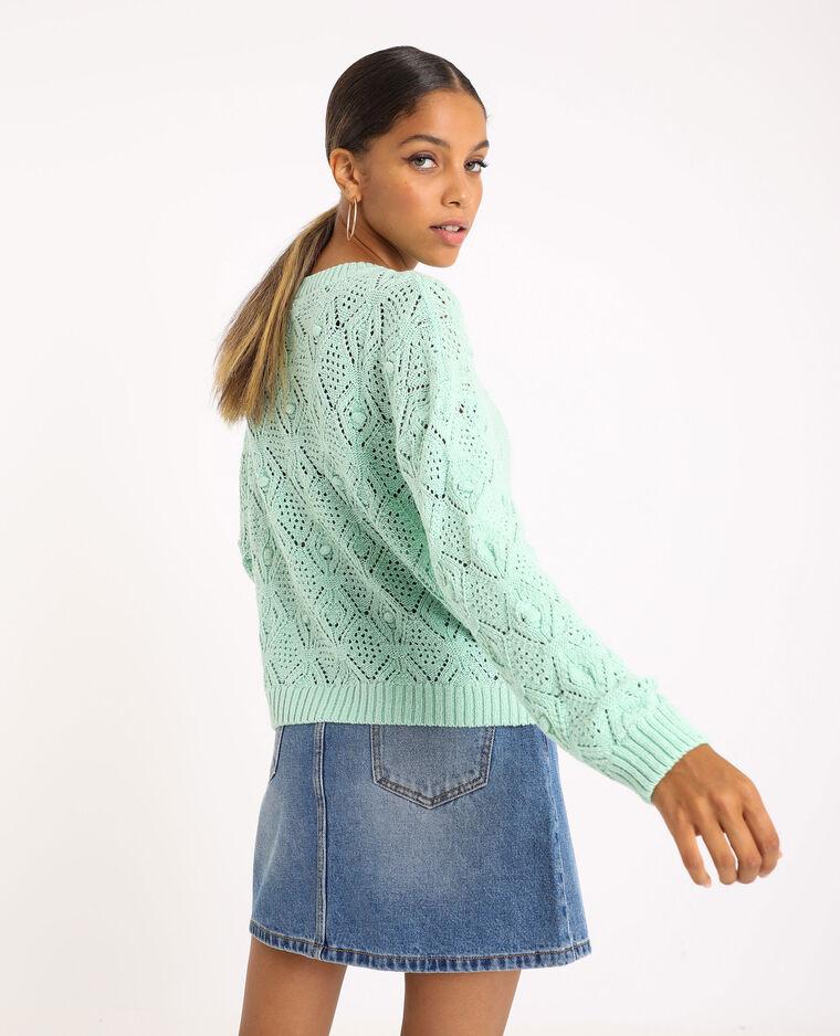 Trui van origineel tricot groen