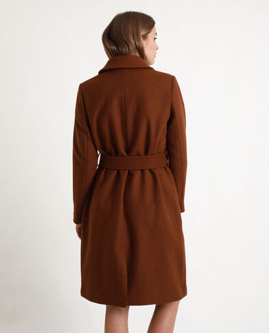 Manteau en laine marron