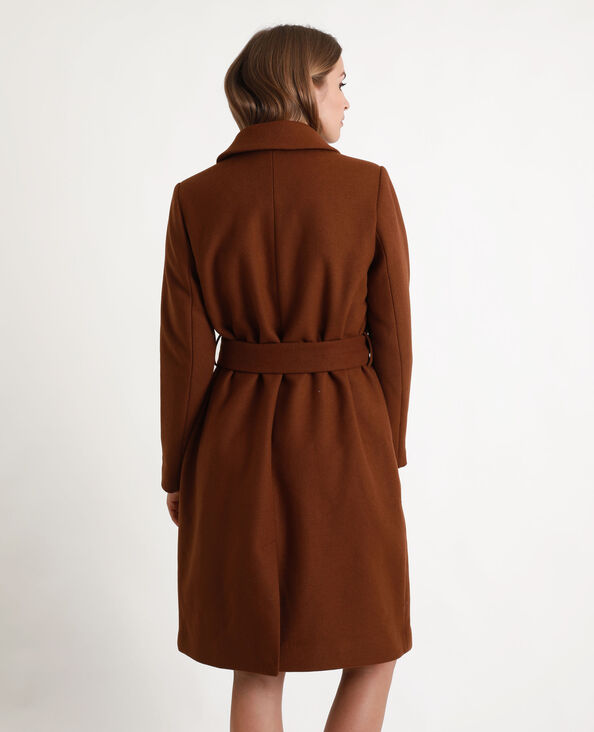 Manteau en laine marron