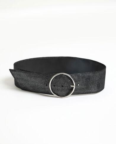 Brede riem zwart