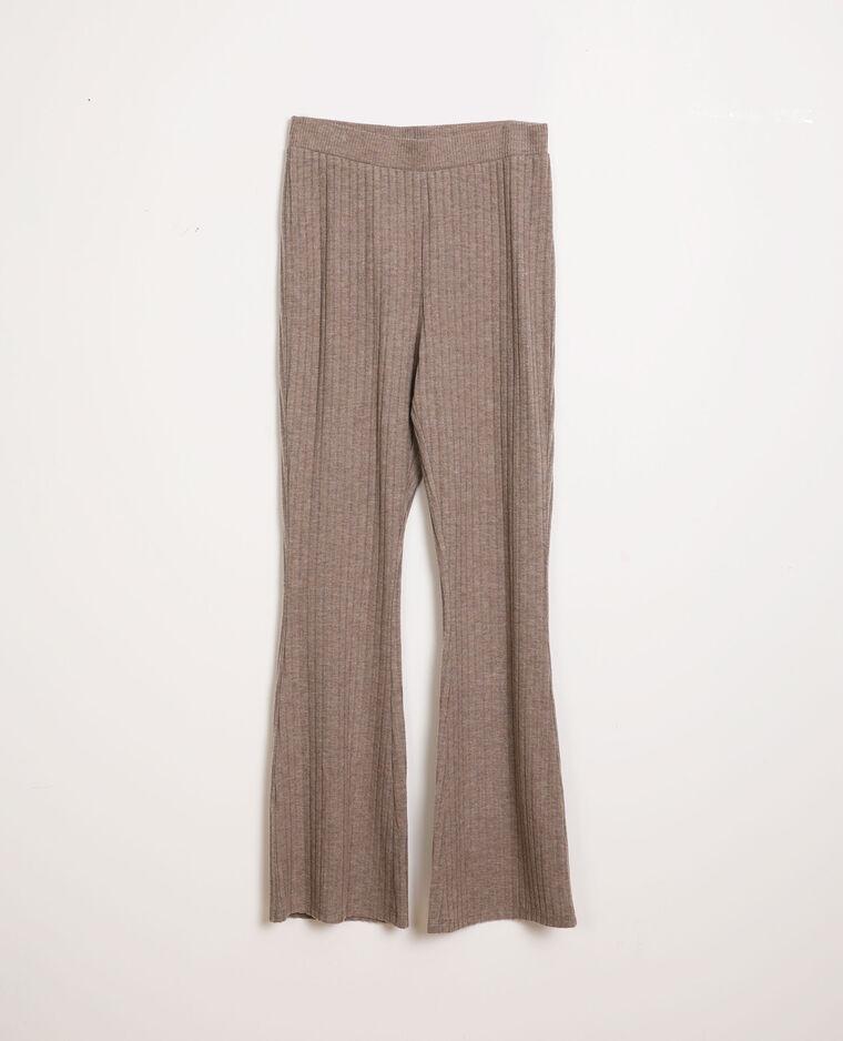 Pantalon évasé gris perle