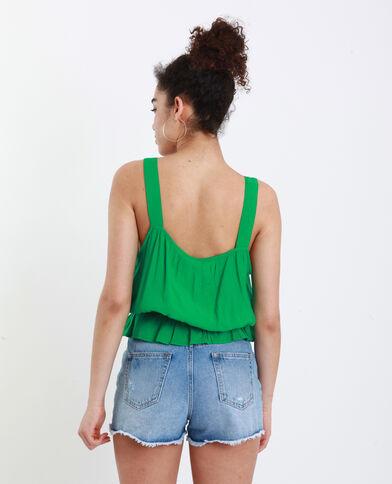 Topje met brede schouderbandjes groen