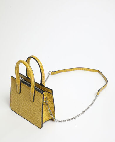 Mini sac croco jaune