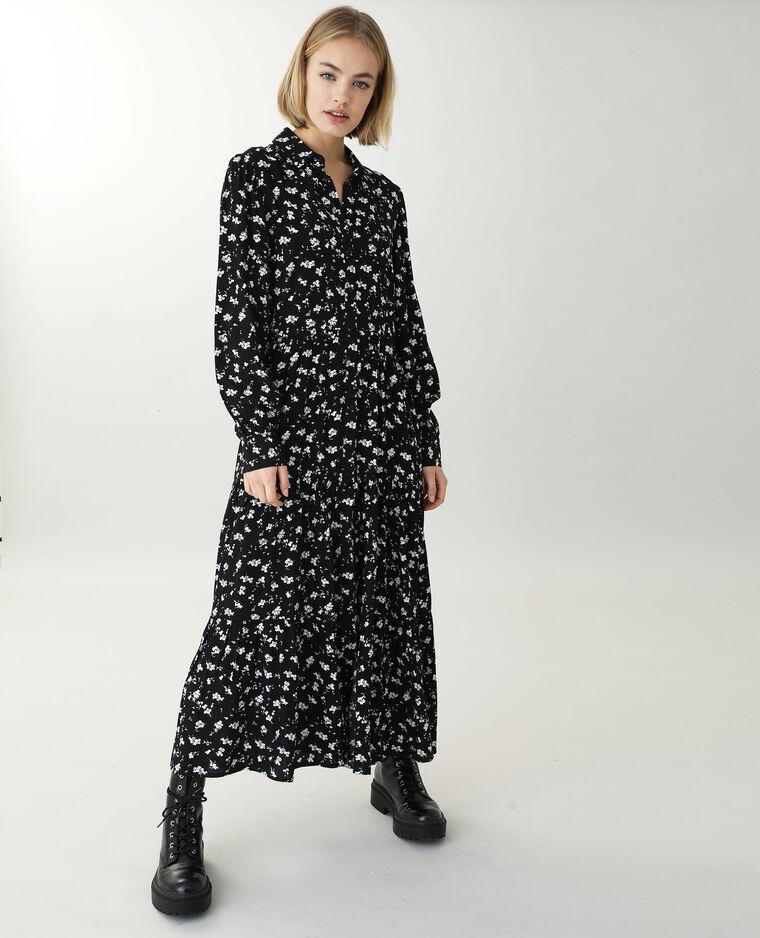 Robe chemise longue noir