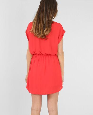 Robe fluide zippée rouge