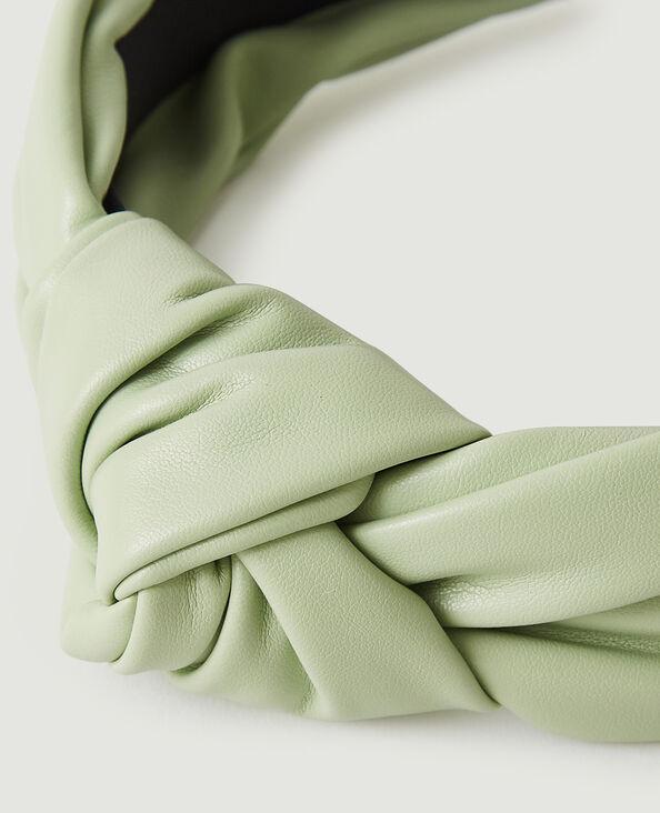 Serre-tête en simili cuir vert d'eau - Pimkie