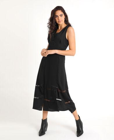 Lange jurk zwart