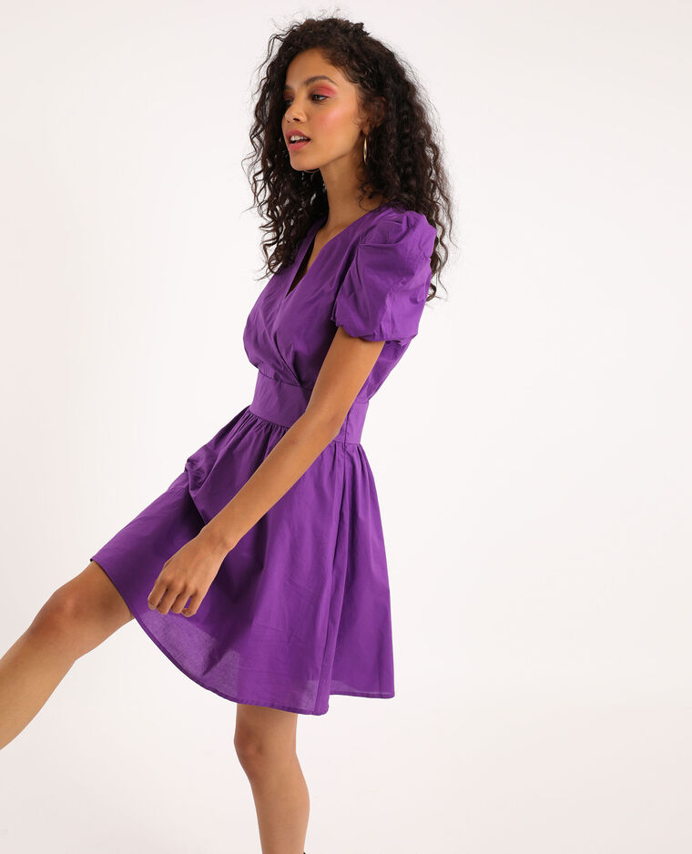 Robe Manches Bouffantes Violet 60 781464426a04 Pimkie