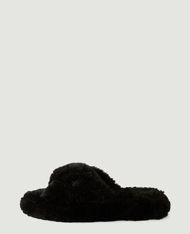 Mules moumoutte noir - Pimkie