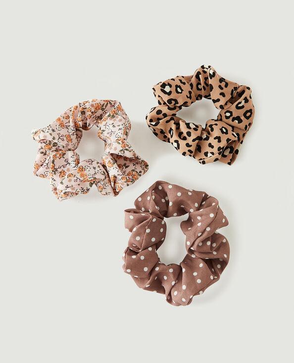 Set van 3 scrunchies bruin - Pimkie