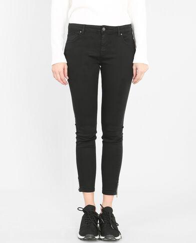 Skinny zippé noir