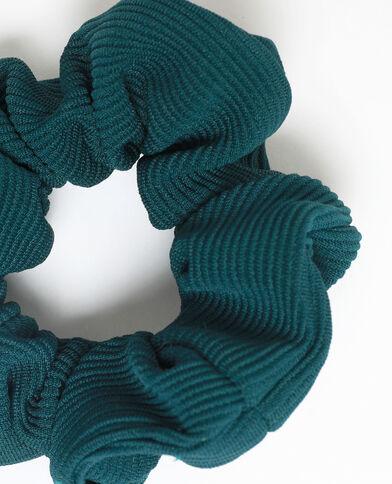 Scrunchie met textuur groen