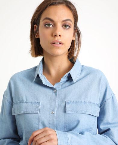 Chemise à poches bleu