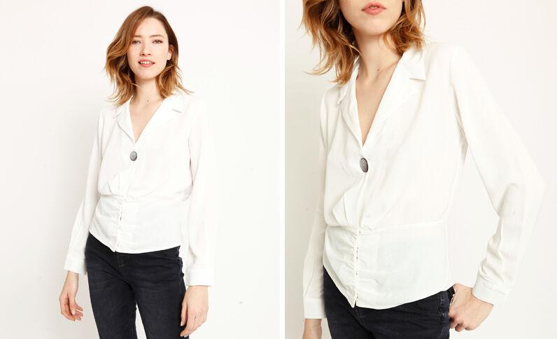 Chemise boutonnée blanc