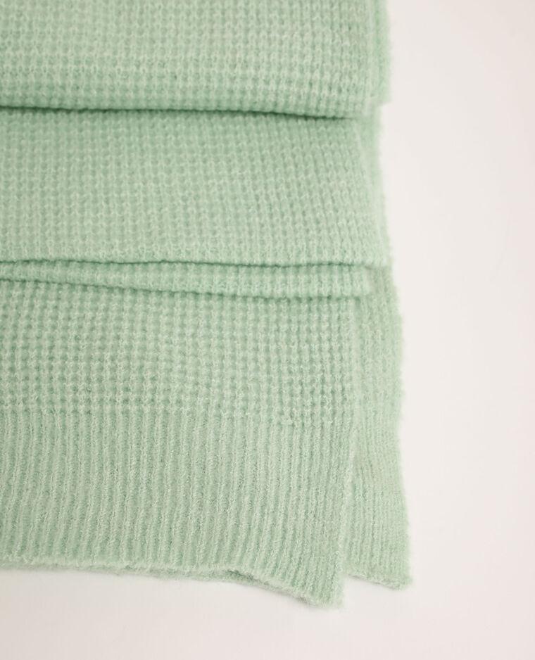 Echarpe gaufrée vert - Pimkie