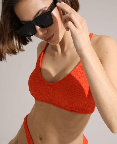 Sportieve bikinitop met plooitjes oranje - Pimkie
