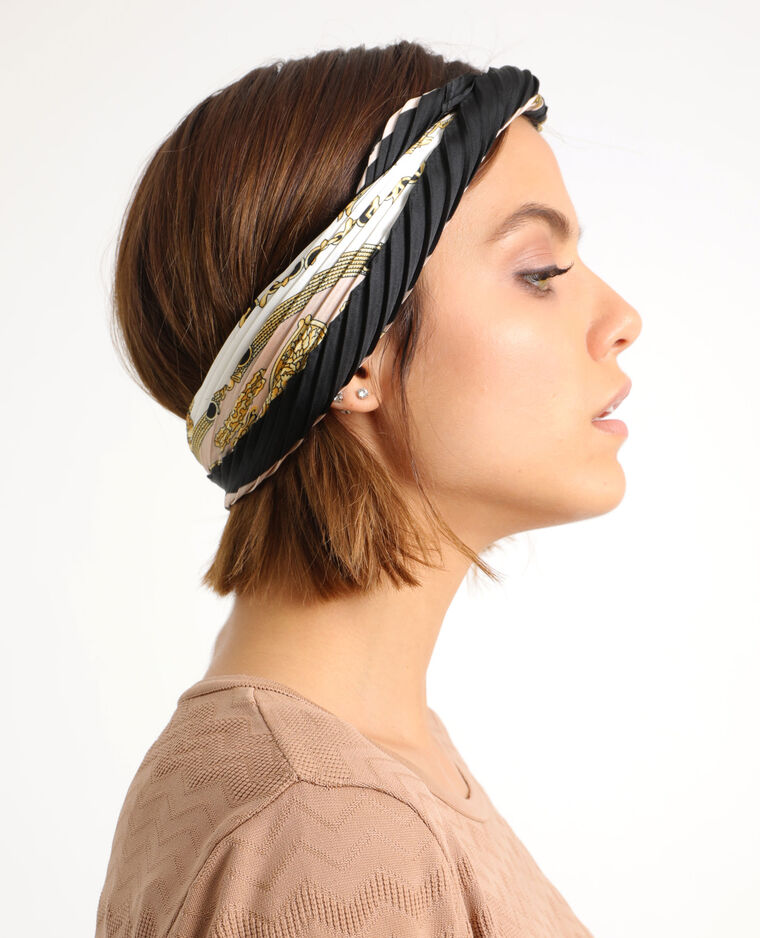 Foulard plissé blanc
