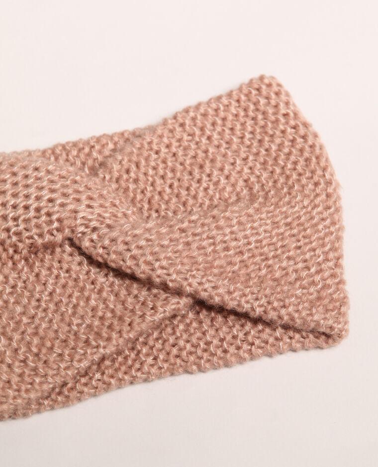 Headband twisté rose