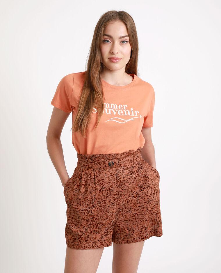 T-shirt Honey pêche