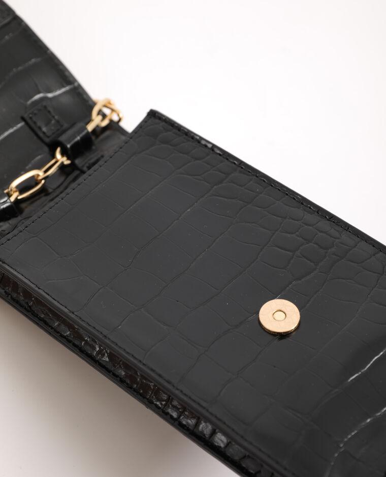 Pochette pour smartphone avec bandoulière noir