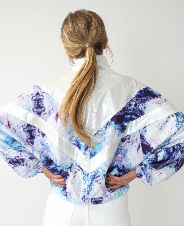 Windjack met gemarmerd motief violet - Pimkie