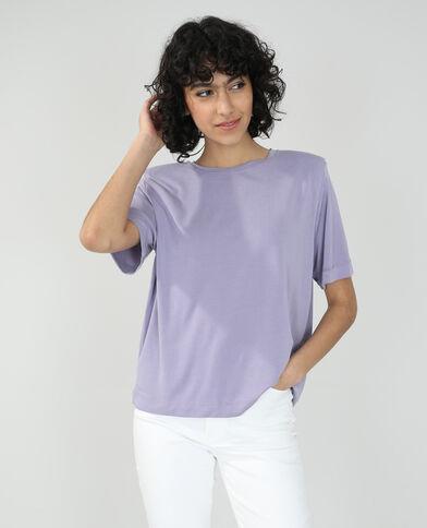 T-shirt à épaulettes violet - Pimkie