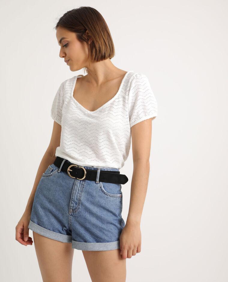 T-shirt ajouré blanc