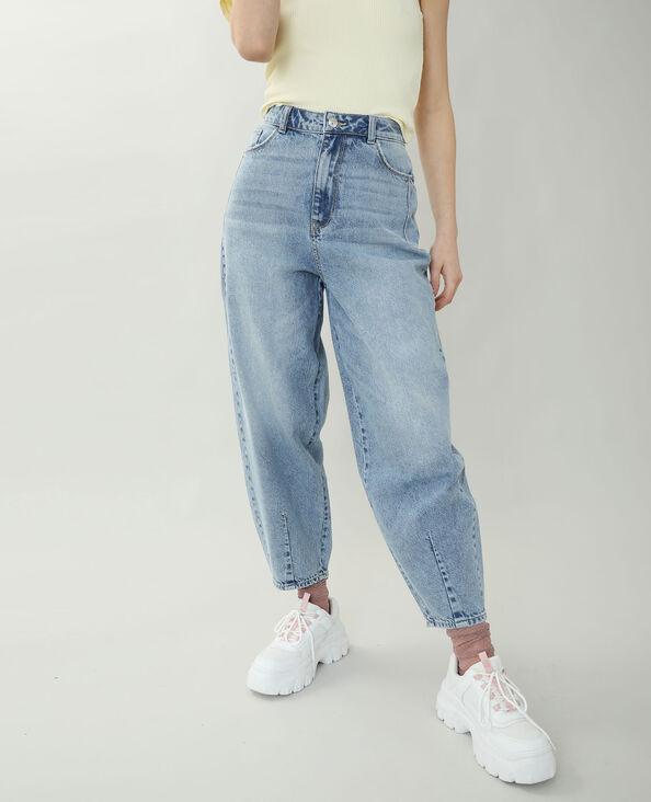 Slouchy jeans met hoge taille Lichtblauw